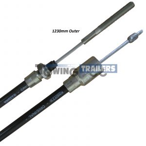 Knott 33921.1.14 Detachable Cable - 1230mm Trailer Bowden Cable