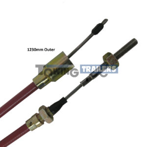 1230mm URB Stainless Cable - Detachable Trailer Cable Suits Knott
