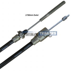 Knott Detachable Bowden Trailer Brake Cable 1730mm Outer