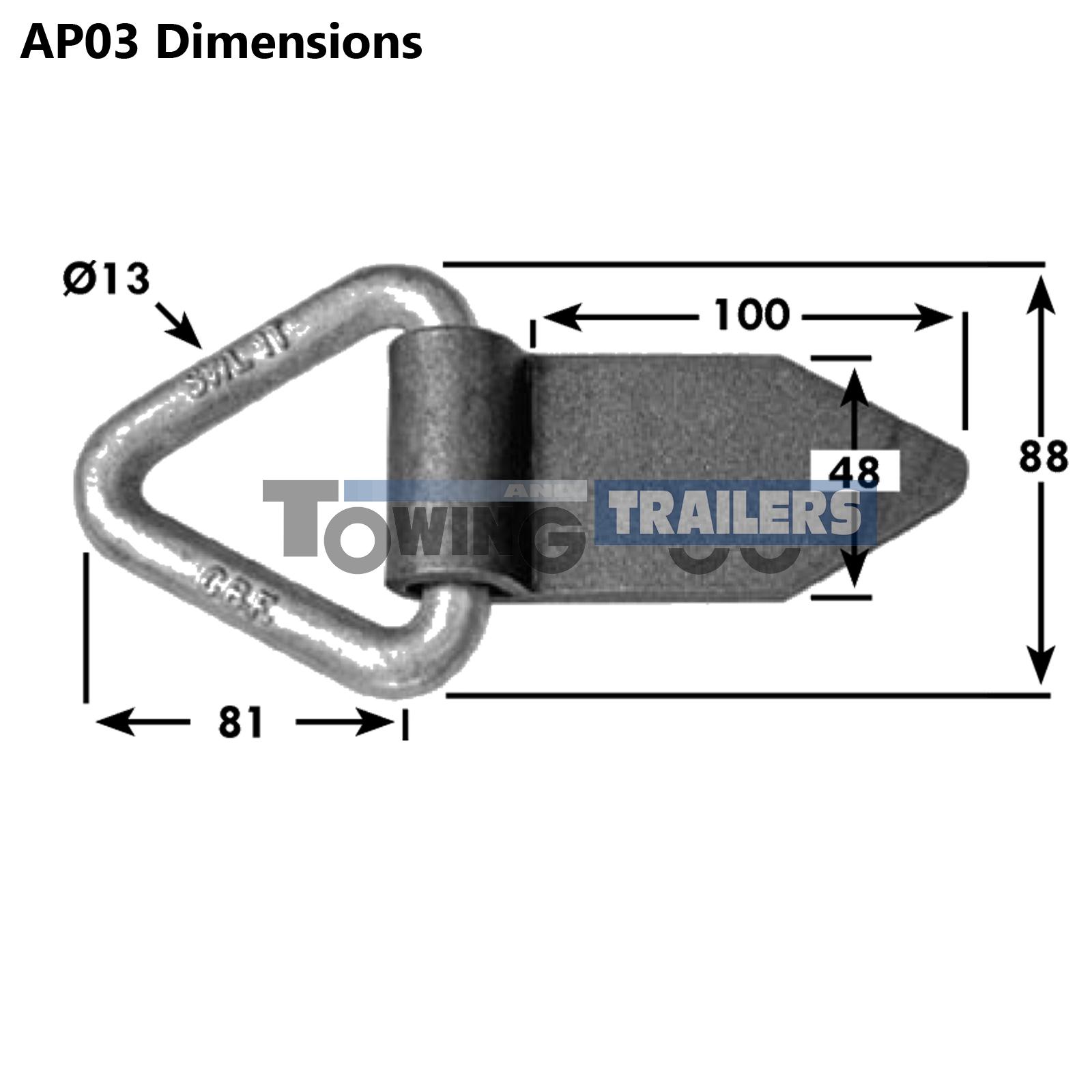 Heavy Duty Triangular Lashing Ring 1000kg