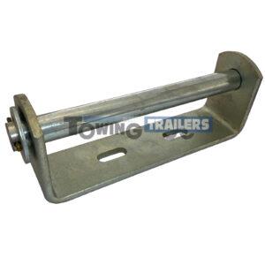 Keel Vee Roller Bracket - 195mm Bracket 19mm Spindle