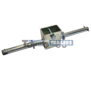 Dumbbell Roller Bracket 310mm - 16mm Spindle - Zinc Plated