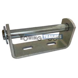 Vee Roller Bracket 148mm - 16mm Spindle Zinc Plated