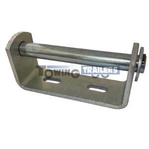 148mm Bracket 19mm Spindle - Vee Keel Roller Bracket