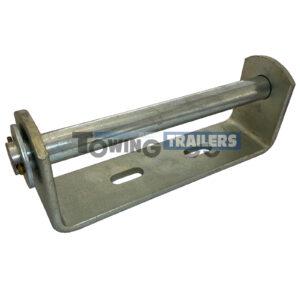 Keel Roller Bracket 220mm - 19mm Spindle Vee Roller