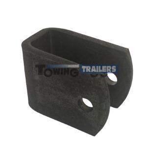Ribbed Roller U Bracket - Trailer Boat Roller Parts Spares