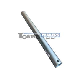300mm Long Stem Post - 34mm Diameter Zinc Plated