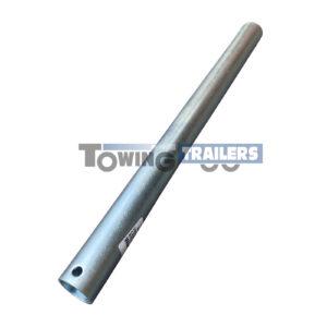 440mm Long Stem Post - 34mm Diameter Zinc Plated