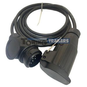 13 Pin Trailer Extension - Plug Socket Trailer Lead Using 8 Pin