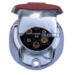 7 Pin N Type alloy trailer plug socket