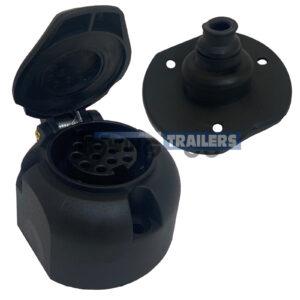 13 Pin Trailer Socket - Euro Socket Single Cable Entry Grommet