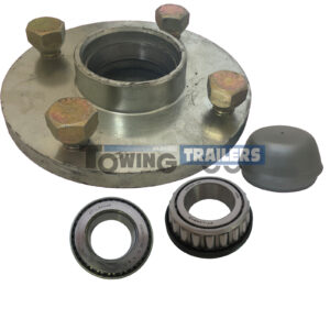 Trailer Hub 108mm PCD Unbraked 1 Inch Shaft 44643 44643L Bearings