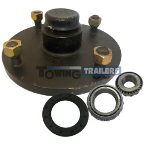 Meredith Unbaked Trailer Hub 5.5 Inch PCD 11749 44649 Bearings