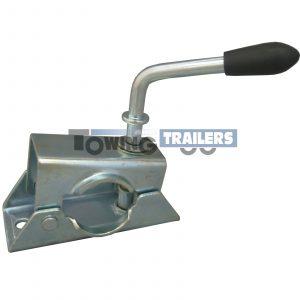 Maypole 48mm Pressed Steel Trailer Jockey Wheel Split Clamp