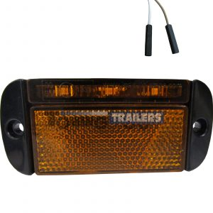 LED Autolamps Amber Side Low Profile Harness Trailer Marker Light
