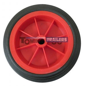 Maypole 160x46mm Red Plastic Replacement Trailer Wheel 13mm Bore