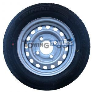 145x80R13 4PLY 79T Trailer Tyre 4 Stud 130mm PCD ET20