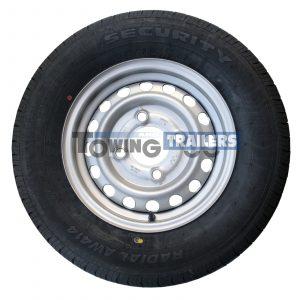 185x70R13 4PLY 93N Trailer Tyre 4 Stud 130mm PCD ET20