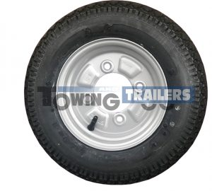 350x8 4-Ply 46M Trailer Tyre 4 Stud 115mm PCD