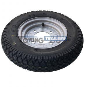 350x8 4PLY 46M Trailer Tyre 4 Stud 115mm PCD ET0