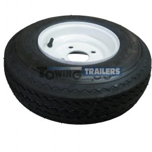 4.80X8 4 Ply 62m Trailer Tyre with 4 Stud x 4 Inch PCD Heavy Duty Rim