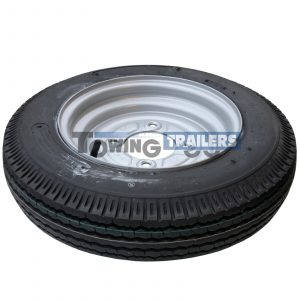 400x10 6PLY 71M Trailer Tyre 4 Stud 115mm PCD