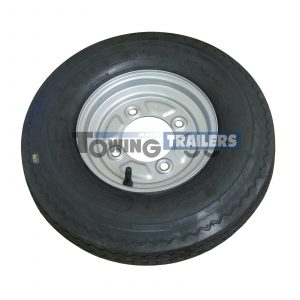 400x8 4 Ply 62M Trailer Tyre 4 stud x 115mm PCD 0mm Offset