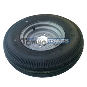 500/10 4-Ply 84M Trailer Wheel 4 Stud 115mm PCD