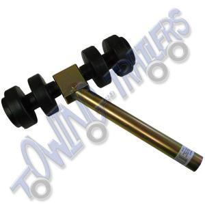 Double Dumbbell Side Roller Bracket with 2 x Rollers & 34mm Ø x 440mm Pole