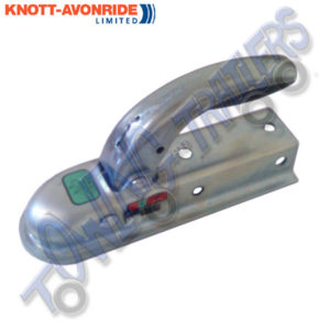 Knott Pressed Steel Unbraked Coupling Head (Hitch) to suit 60mm Box Rubber grip