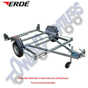 Erde CH751 Motorcycle Trailer to carry 2 or 3 Motorbikes