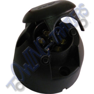 'N' type 7 pin Plastic towbar / trailer socket 12N