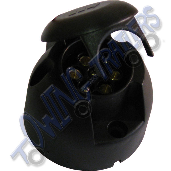'N' type 7 pin Plastic towbar / trailer socket 12N