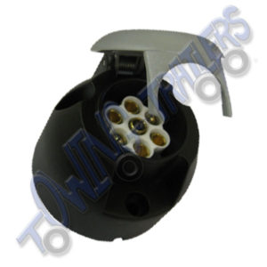 7 Pin S Type 12S Plastic Socket