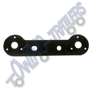 Horizontal Double Electrical Socket Mounting Plate