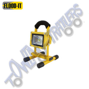 Flood-It Essential 5w Rechargeable LED Flood Light 2.5hr Battery - Yellow
