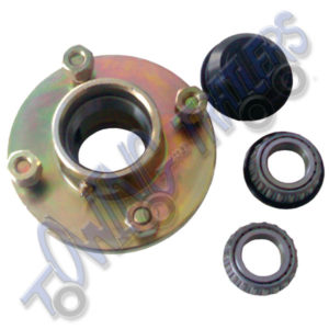 "4"" PCD unbraked Trailer hub to suit 1"" Shaft"