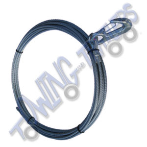 8mm x 10m Winch Cable (rope wire) with Hook Rated 4000kg