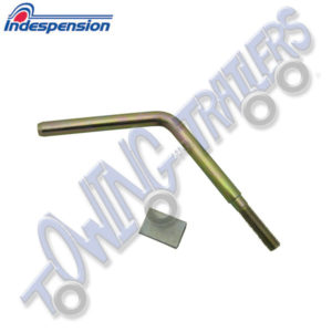 "Indespension pre 06/09 4"" Handle & Pad up to 2700kg Couplings with 42mm Jockey Wheel"