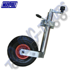 Maypole 48mm Pneumatic Jockey Wheel inc Clamp