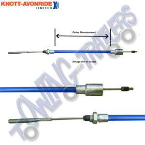 Knott 37086.11 Detachable Stainless Steel Brake Cable 1030mm Outer