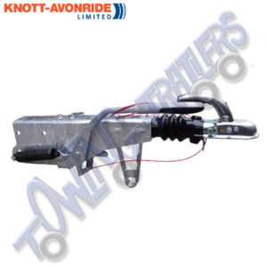 Knott 2000kg KRV20 with 40mm Eye Pole Coupling for 80mm Drawbar