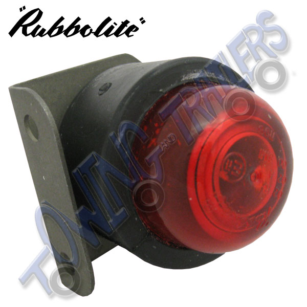 Rubbolite On Rubber Red Rear Marker Light With Bracket