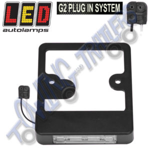 LED Autolamps LP100M Bracket with Multivolt NumberPlate Light for LU410LAUM