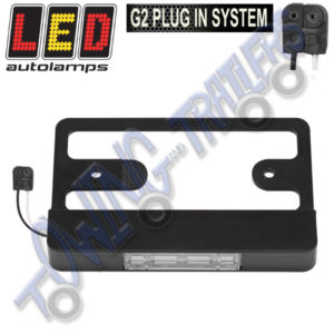 LED Autolamps LP150M Bracket with Multivolt NumberPlate Light for LU420LAUM