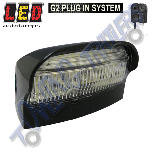 LED Autolamps 41BLME1P Multivolt Number Plate Light with G2 Plug