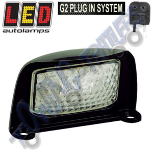 LED Autolamps 35BLME1P NumberPlate Light with Cable + G2 Plug