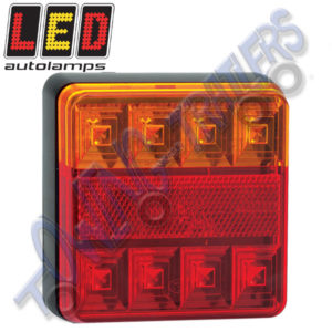 LED Autolamps12v 3 Function 100mm Rear Light 101BARE