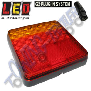 LED Autolamps MultiVolt 3 Function 100mm Rear G2 Plug in Light Stop/Tail/Indicator 100ARME