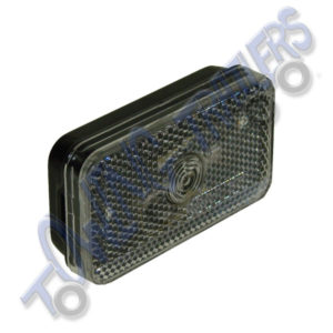 G-Mak Rectangular White Reflective Front Marker Light